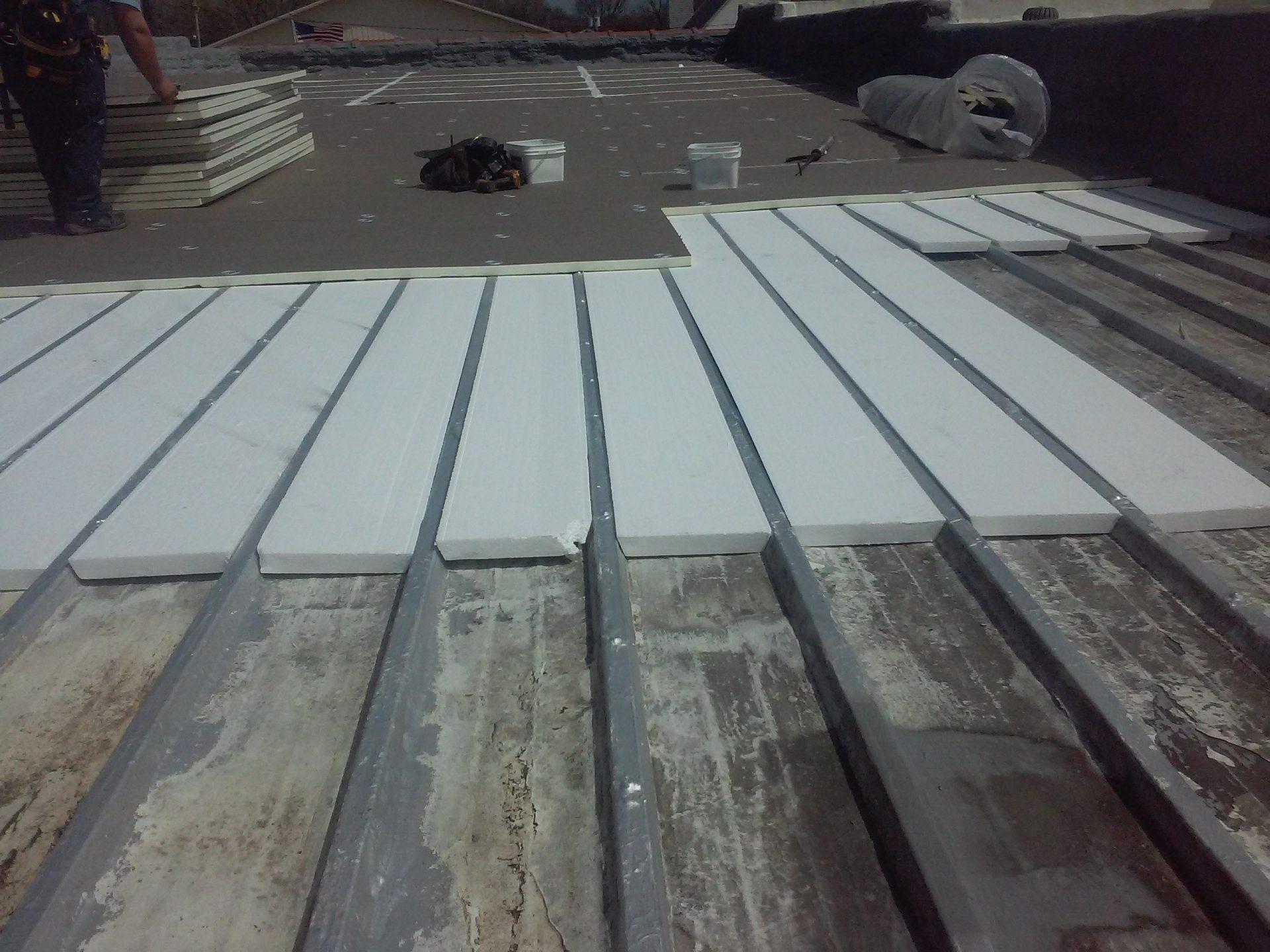 roof restoration in progress
