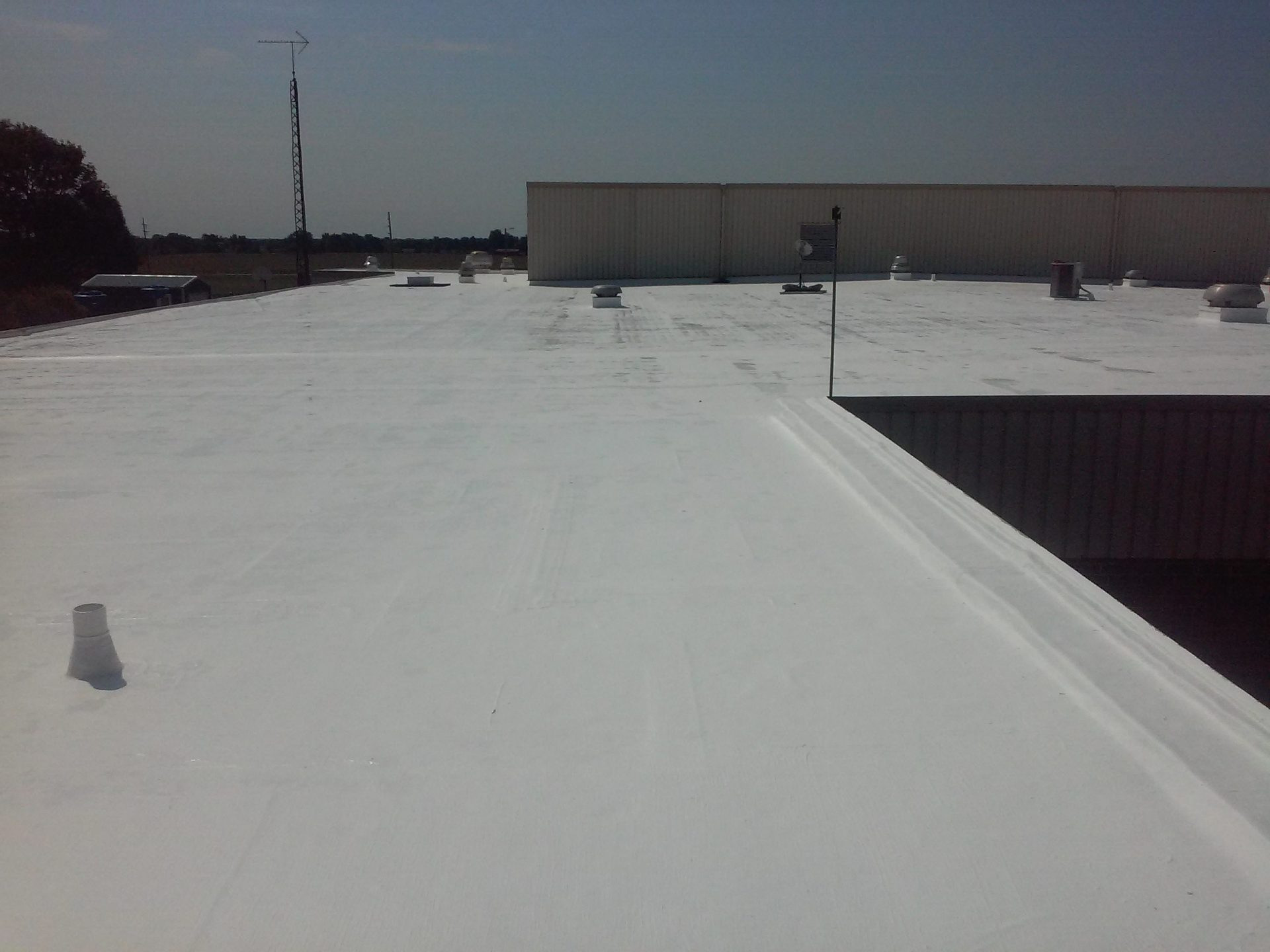 white commercial roof