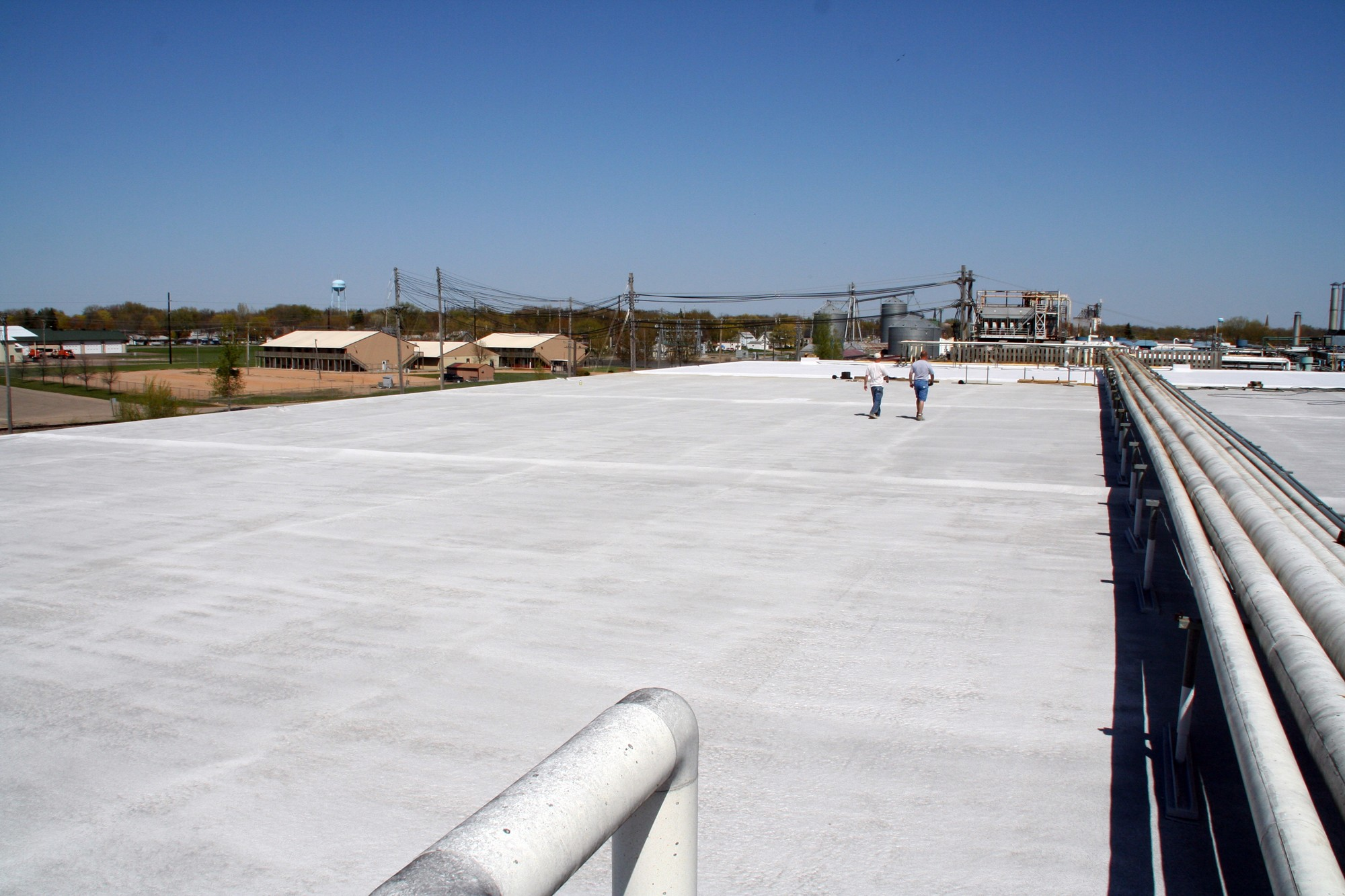 Our Commercial Roofers at work.