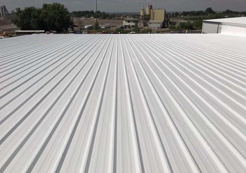 A finished, white product of our commercial roofers.